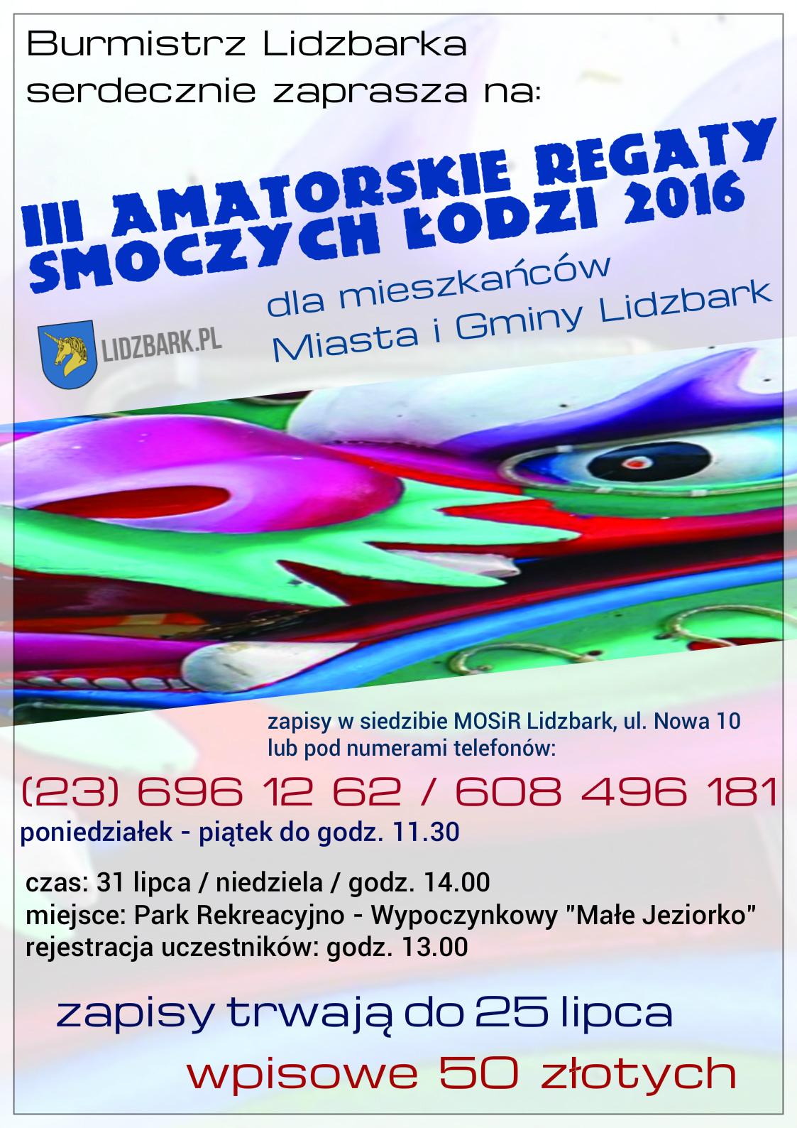 Smocze Łodzie 2016 - plakat 2